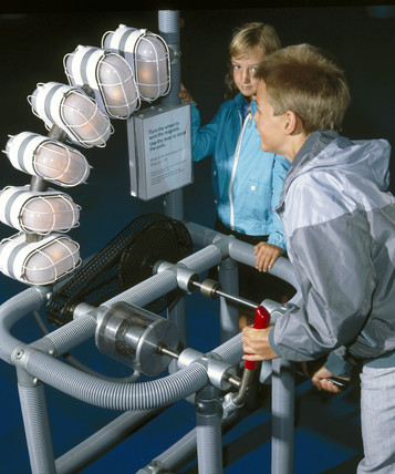 The Electric Generator interactive, Science Museum, London, 1992.