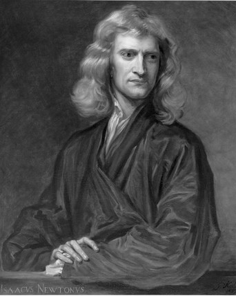 Sir Isaac Newton, English mathematician and physicist, c 1689.