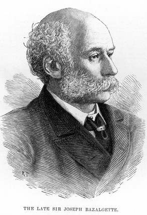 Joseph William Bazalgette, British civil engineer, c 1880s.