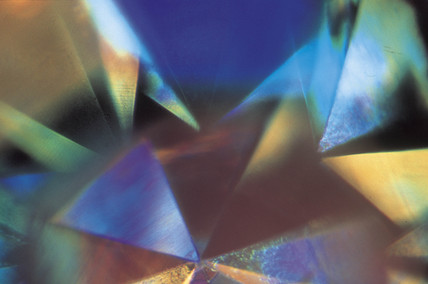 Reflections through a diamond ring, light  micrograph, 1990s.