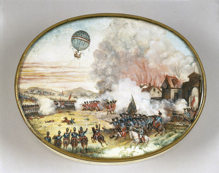 A balloon at Fleurus, 1794.