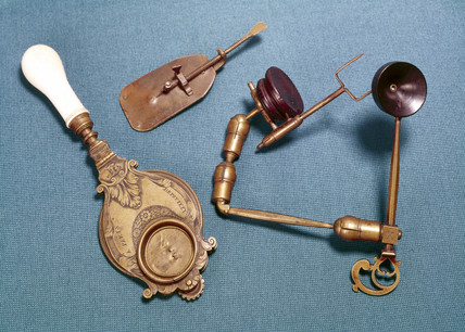 Simple microscopes, 17th century.