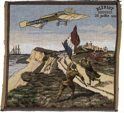 Bleriot arriving at Dover, Kent, 25 July 1909.