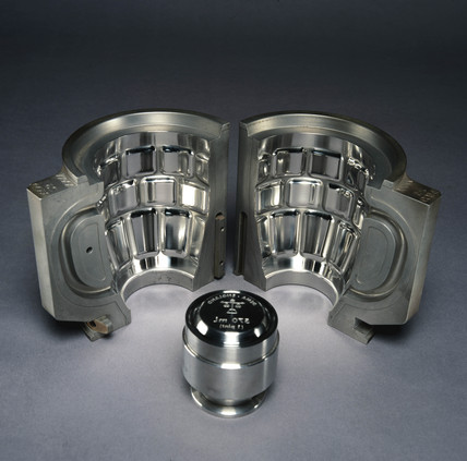 Stainles steel mould for beer glas, c 1996.