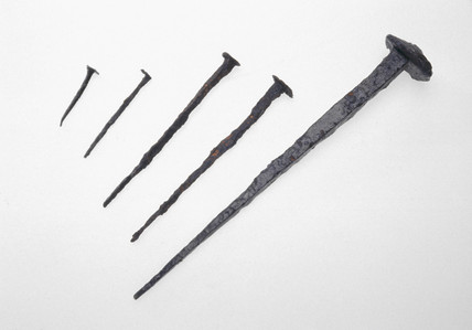 Five Roman iron nails, late 1st century AD.