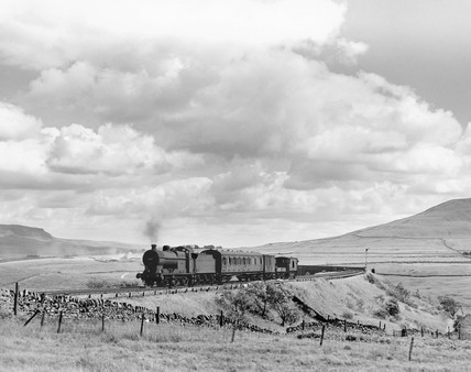 Midland Railway steam locomotive, c 1958.