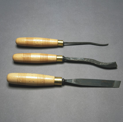 Tools for carving wood, c 1990s.