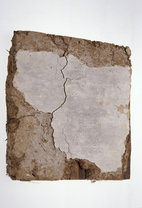 Sample of wattle and daub, from Penshurst, Kent, c 13th-15th century.