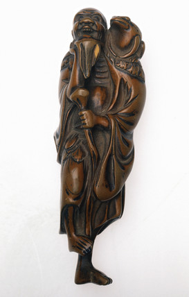 Netsuke in the form of Gama Sennin, Japanese, 18th or 19th century.