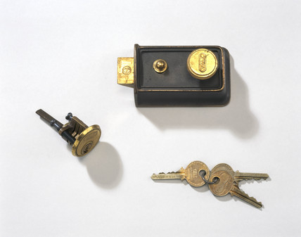 Yale door latch, early 20th century.