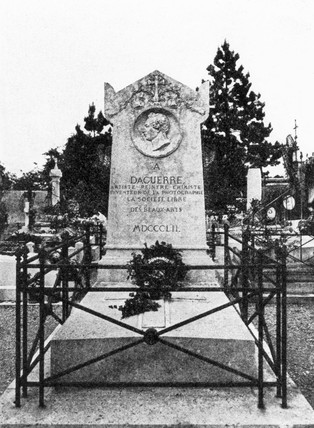 The gravestone of Louis Daguerre, French photography pioneer