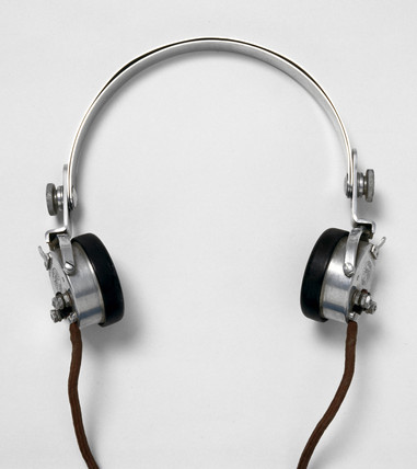 Pair of Sterling headphones, c 1920s.