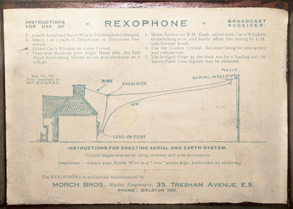 Rexophone label, early 20th century.
