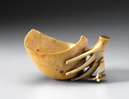 Ivory vesel, posibly a medicine cup, Cameroon, late 19th-early 20th century.