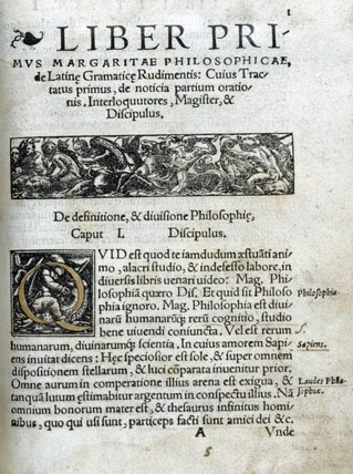 Decorated page from the 'Margarita Philosophica', 1535.
