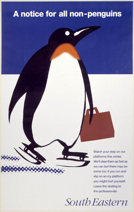 'A notice for all non-penguins', BR poster, 1995.