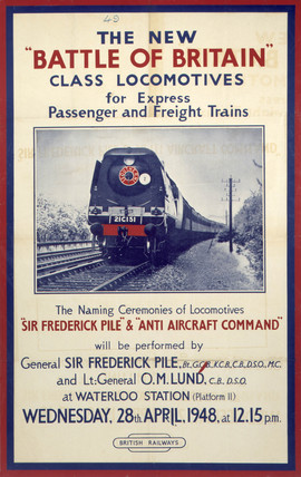 'The New Battle of Britain Clas Locomotives', BR poster, 1948.