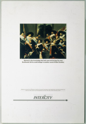 Intercity poster featuring painting by Frans Hals, 1987-1989.