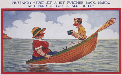 'Just Sit a Bit Further Back, Maria, and I'll Get You In All Right', c 1930.