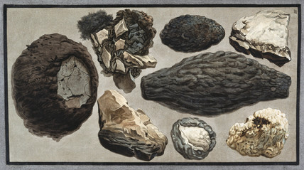 Volcanic material from Mount Vesuvius, 1779.
