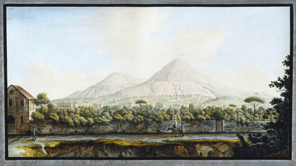 Mount Vesuvius, Kingdom of Naples, c 1767.