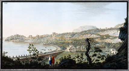 View of Puzzoli, Kingdom of Naples, c 1770.