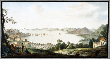 View above Puzzoli, Kingdom of Naples, c 1760.