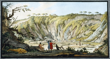 Inside the crater of Monte Nuovo, Kingdom of Naples, c 1770.