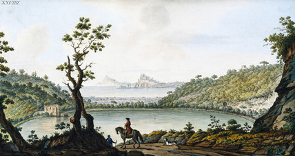 View of Lake Avernus, (southern Italy), c 1770.