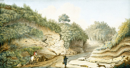 Road leading from Grotto of Pausilipo to Pianura, Kingdom of Naples, c 1767.