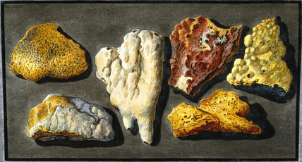 Pieces of lava from Mount Vesuvius, c 1770.