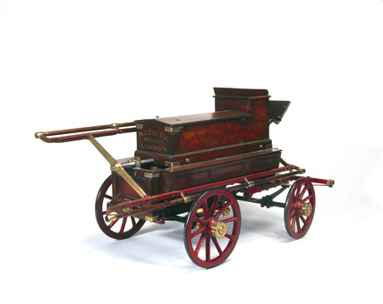 Manual fire engine, early 19th century.