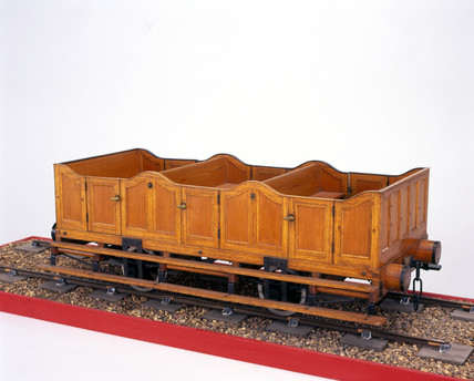 Early third clas railway carriage, c 1840.