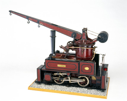 Crane locomotive, c 1896. Model (scale 1:8)
