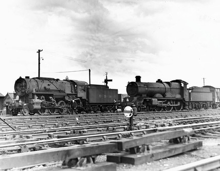 United States Army Transportation Corps 2-8-0 steam locomotive.