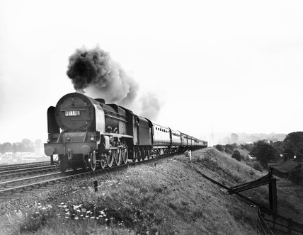 'The Royal Scot' steam locomotive, c 1946.
