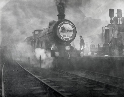 Farewell run for last of the 4-4-2 clas steam locomotives, 26 November 1950.