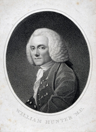 William Hunter, British anatomist and obstetrician, 1740.