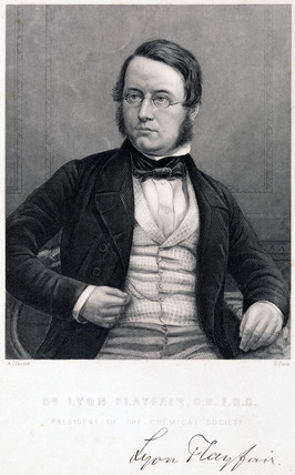 Lyon Playfair, Baron St Andrews, Scottish chemist and politician, c 1850.