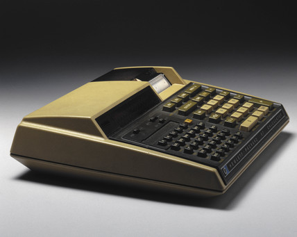 Hewlett Packard HP 97 electronic desktop printing calculator, c 1977.