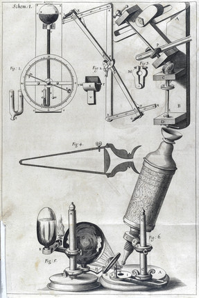 Robert Hooke's compound microscope, 1664.