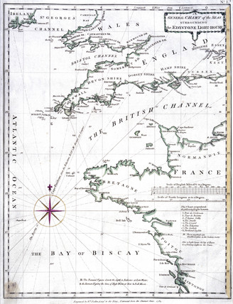 'General Chart of the Seas surrounding the Eddystone Lighthouse', 1784.