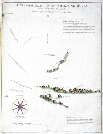'A General Plan of the Eddystone Rocks', 1785.