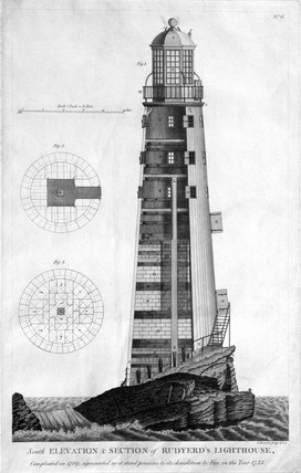 The second Eddystone lighthouse, 1755.