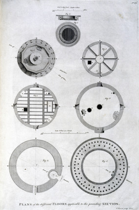 Plan of Spurn Point lighthouse floors, c 1785.
