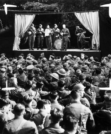 Army open air concert for troops, 1939. A c