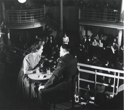 Couple at a dance, Second World War, 1944.