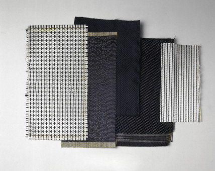 Samples of carbon fibre, c 1962-1980.