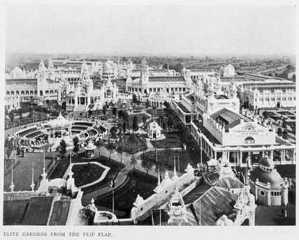 'Elite Gardens from the Flip Flap', White City, London, 1910.