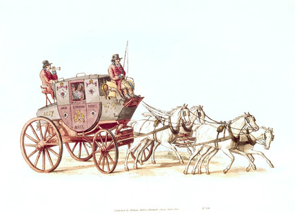 'Royal Mail stagecoach', 1805.